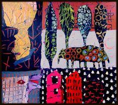 Elke Trittel acrylic on paper 36x36cm