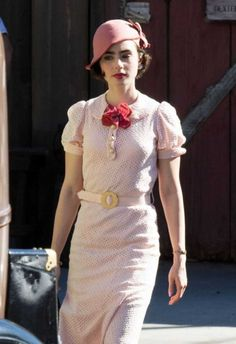 #Lily Collins News - 29 HQ Lily Collins - On set of The last tycoon in Los Angeles February 11, 2016