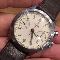 """""""Vintage 1949 Omega Royal Canadien Air Force RCAF chronograph (Mongkok shop) WhatsApp : +852 9699 1000 Email : info@thevintageconcept.com"""" Photo taken by @thevintageconcept on Instagram, pinned via the InstaPin iOS App! http://www.instapinapp.com (03/06/2015)"""
