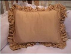 """Sterling Anabella Baby Beverly Hill Silk Blush Pillow Sham 12""""x16"""". Can be monogrammed. Goes with Beverly Hill Blush Crib Bedding Set.  #Babybedding #Nursery #waughinteriordesigns"""