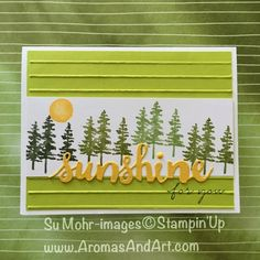 By Su Mohr for cts257; Click visit to go to my blog for details! Featuring: Sunshine Wishes, Simple Stripes, Waterfront, Happy Wishes; #sympathycards #getwellcards #waterfront #sunshinewishes #happywishes #trees
