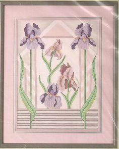 Iris Cross Stitch Picture Cross Stitch by SewFrazzledThreads