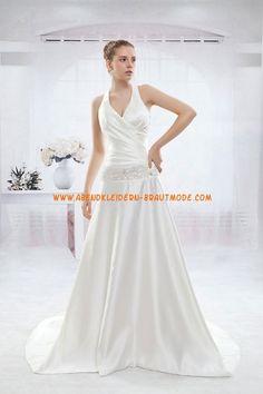 A-linie Glamouröse Dramatische Brautkleider aus Taft mit Schleppe