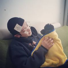 """chanyeol with toben😭💖"""