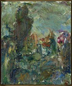 Eugène Leroy - L'ARBRE AUX TOITS, 1988, oil on canvas