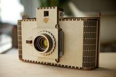 Wooden Camera. Birch Camera Flat-pack 120mm pinhole by Adam Bellavance at Coroflot.com
