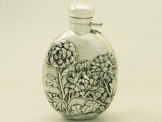 Japanese Silver Hip Flask – Antique Circa 1890