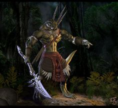 Aphashia,+Lizardman+Warrior+by+Shinsen.deviantart.com+on+@DeviantArt