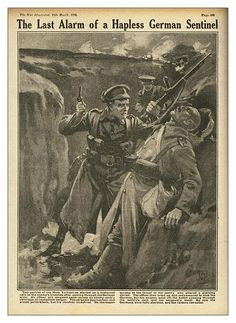 """The Last Alarm of a Hapless German Sentinel"" - The War Illustrated, WWI"