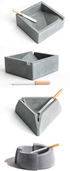 Concrete Cigar Cigarette Ashtray