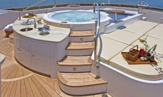 This is on a yacht!