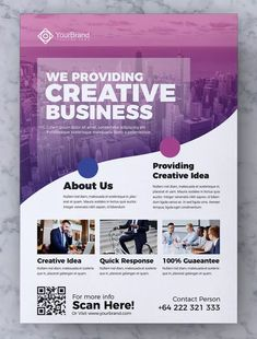 Corporate Business Flyer Template AI, EPS, PSD
