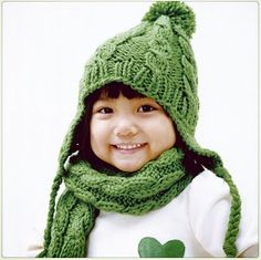 Adorable earflap hat for kids