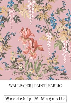 Proudly made in our little design studio in Lancashire, England we print to order. Co-ordinate with Woodchip & Magnolia paint Botanical Wallpaper, Pink Wallpaper, Magnolia Paint, Pink Backdrop, Art Shoes, Design Repeats, Pink Clouds, Little Designs, Gcse Art