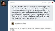 God forbid that Zac Efron get cast as Finnick Odair! but this is pretty hilarious