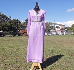 Vintage 70s Boho Princess Evening Gown Size S  by VintageSquirrels, $69.95