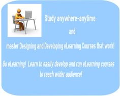 """Enhance your professional skills and employability by participating in our course """" Go eLearning! Learn to easily develop and run eLearning courses to reach wider audience! By completing this. To Reach, Online Courses, Education, Learning, Create, Projects, Log Projects, Blue Prints, Studying"""