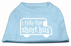 I ride the short bus Screen Print Shirt Baby Blue M (12)