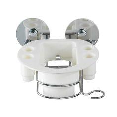 Samoprzyczepna półka na szczoteczkę elektryczną Wenko Turbo-Loc, do 40 kg