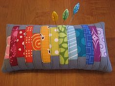 quilt style pincushion