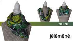 Green Scarf Accessories / Lenço Verde (é possível usar de diferentes formas) Acessórios