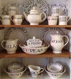 I love Emma Bridgewater crockery, the toast and marmalade collection is my favourite, the writing is so cute and the colours suit my taste perfectly.