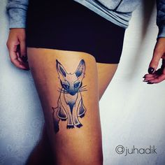 Dark side fox tattoo.  Tattoo artist: @juhadik Tattoo studio: @blacktuliptattoocz