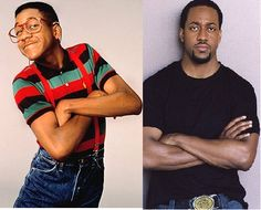 Then & Now: Jaleel White (Steve Urkel - Family Matters) Steve Urkel, Celebrities Before And After, Celebrities Then And Now, Male Celebrities, Hollywood Stars, Jaleel White, Laurel Et Hardy, Actors Then And Now, Stupid Face