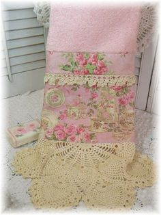 SALE Tea for Two PINK ROSES  display\/show by MarionberryCottage