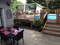Having a pool sounds awesome especially if you are working with the best backyard pool landscaping ideas there is. How you design a proper backyard with a pool matters. Decks Around Pools, Landscaping Around Deck, Backyard Pool Landscaping, Best Above Ground Pool, Above Ground Swimming Pools, In Ground Pools, Backyard Projects, Outdoor Projects, Pool Deck Plans
