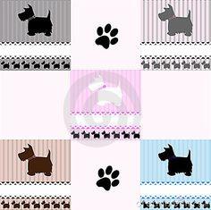 Westie Terrier dog tiles