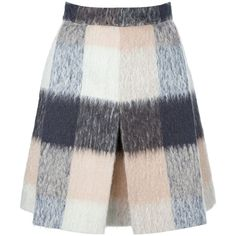 CHLOE checked a-line skirt ($685) ❤ liked on Polyvore featuring skirts, bottoms, faldas, gonne, checkered skirt, chloe skirt, a line skirt, knee length a line skirt e fur skirt