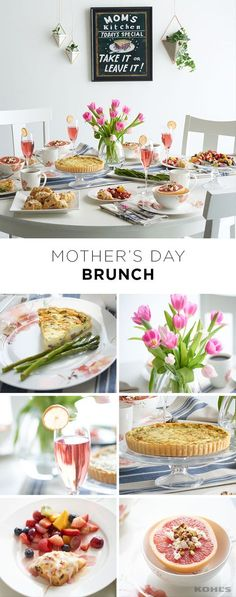 Skip the crowded restaurant on Mother's Day. Host your own Mom-appreciation brunch! Think light and bright with the decorations, focusing on pretty spring flowers that double as a Mother's Day gift. Serve all Mom's favorites from quiche and asparagus to scones and fruit. Oh and don't forget the Bellinis. Cheers! Celebrate Mother's Day with Kohl's.