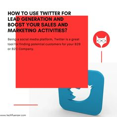 Being a social media platform, Twitter is a great tool for finding potential customers for your B2B or B2C Company. You can use Twitter in multiple ways to educate, aware and build your brand online. It is the best platform where you can ask the problem of your customer as well answer the solution that is unique than other sellers. Follow some of the easy steps mentioned below to use Twitter effectively for your business to not only drive the traffic but also generate leads: Read More