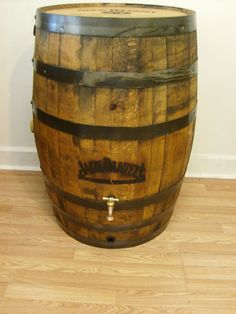 Authentic Branded and Engraved Whiskey Barrel Rain Barrel #AuntMollysBarrelProducts