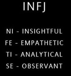 INFJ ~ Se is our ingerior function. Always stubbing our toes on the material world. Intj And Infj, Infj Mbti, Infj Type, Enfj, Introvert, Myers Briggs Infj, Myers Briggs Personality Types, Infj Personality, John Maxwell
