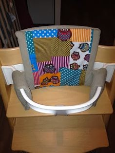 free pattern and tutorial - cushion for tripp trapp with baby set