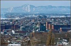 Sherbrooke, downtown, seeing the Orford ski mountain in the back. This city is just a few minutes away from Magog, my Home Town. Visit Canada, O Canada, Canada Travel, Quebec Montreal, Quebec City, Places To Travel, Places To Visit, Alaska, Voyager Loin