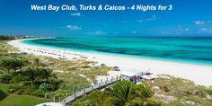 West Bay Club, Turks & Caicos - 4 Nights for 3 - https://traveloni.com/vacation-deals/west-bay-club-turks-caicos-4-nights-3/ #travel #vacation #caribbean #freenight #TurksandCaicos