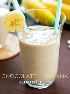 Wake up to a delicious breakfast! This Easy Chocolate Banana Smoothie recipe is exactly the healthy start you need to keep you going all morning long. Skip the doughnut shop and whip up a chocolate banana smoothie today! http://scrappygeek.com/chocolate-banana-smoothie-recipe/
