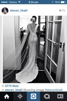 Stunning dress by Steven Khalil!