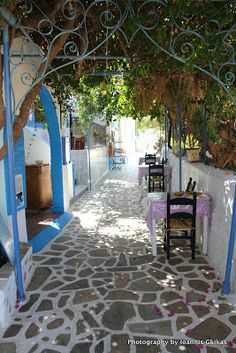 Telendos island facing Myrties on Kalymnos island in Greece. A quiet, laid back, friendly, welcoming kind of island. Right next to Kalymnos. Interesting Buildings, Greece Islands, Travelling Europe, Traveling, Kos, Pergola, Outdoor Structures, Patio, Architecture