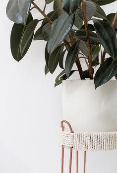 DIY copper plant stands | Sarah Sherman Samuel