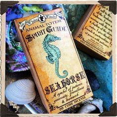 SEAHORSE ANIMAL TOTEM CONE INCENSE. 20 Pack. Blessed with Aquamarine & Moonstone. Spirit Guide For Patience, Generosity, Friendliness, Teamwork, Calming Energy, Emotional Flexibility, Resourcefulness, Strength, Good Luck, Shaman, witch, magick, spells, www.whitewitchparlour.com