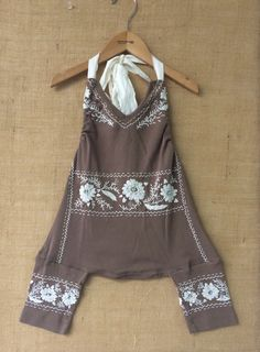 Up cycled romper www.Bohobabyboutique.com