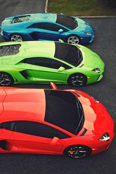 Lamborghini ... Makes me think of Skittles!