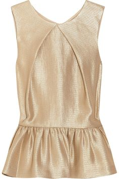 Mulberry Metallic Crepe Peplum Top - LoLoBu