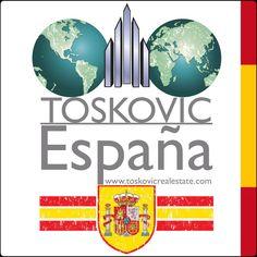 """""""TOSKOVIC España"""" www.toskovicrealestate.com Sea parte de nuestro equipo de éxito!"""
