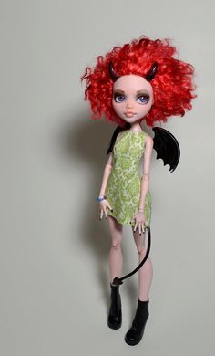 OOAk Monster High Draculaura Demon Custom by MadeleineMaiStudio