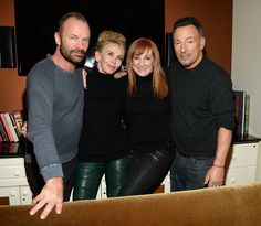 Exclusive Coverage Sting Trudie Styler Patti Scialfa and Bruce Springsteen attend the 37th Annual Kennedy Center Honors party at Mandarin Oriental...